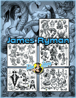 (Laminated) Tattoo Johnny James Ryman Fantasy Masterworks Flash Set