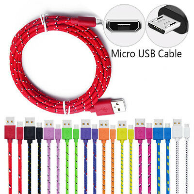 Strong Braided Micro USB Charger Data Cable for HTC One M7 M8 M9 A9 Desire 820