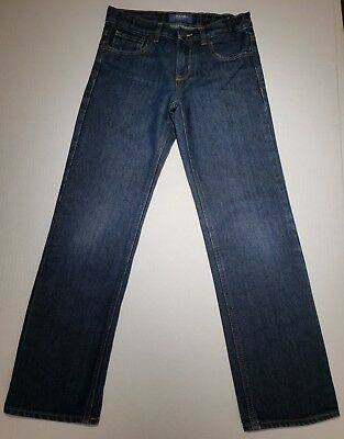 Youth Old Navy Straight Junior Denim Blue Jeans Boys Adjustable Pants Size 12 R