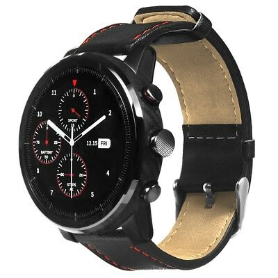 22mm Leather Strap Bracelet Band For Amazfit Stratos 2/2S Pace Sport Smartwatch