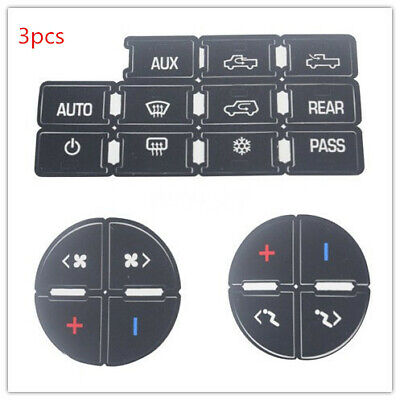 Universal For GM 07-14 Vehicles Decal Stickers AC Dash Button Repair Kit 1pcs
