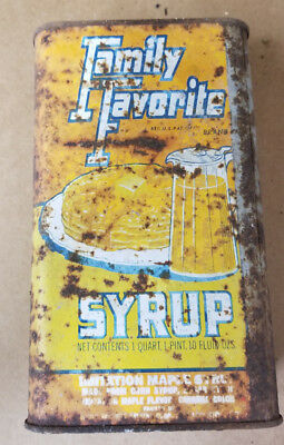 Antique Family Favorite Syrup tin