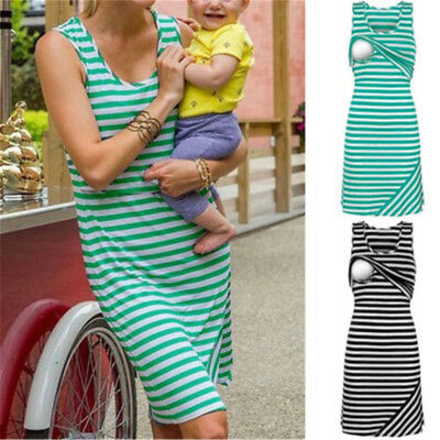 Blouse Nursing Top Women Pregnant Maternity Clothes Striped Shirt Breastfeeding