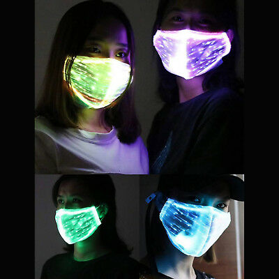 7Color LED Dust Hip-hop Mouth Mask for Men Women Party Rave Mask Rechargeable