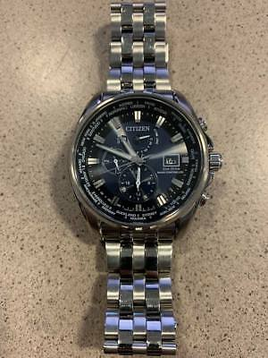 Citizen Eco-Drive AT9030-80L Men's 44mm World Time Atomic Watch - WATCH ONLY