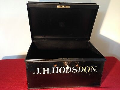 Vintage metal deed box With One Key