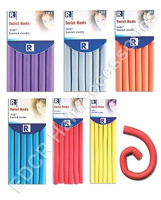 TWISTY BENDERS Soft Foam Hair Dressing Bendy Rollers In 6 Different Sizes Save££