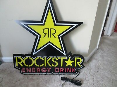 Rockstar Energy Drink LED Lighted Sign 28 X 30 X 3 Brand New In Original Box