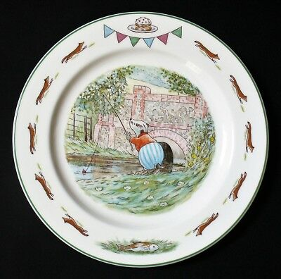 1994~PORCELAIN~Plate~FOXWOOD TALES~Villeroy & Boch~BADGER FISHING~Brian Paterson