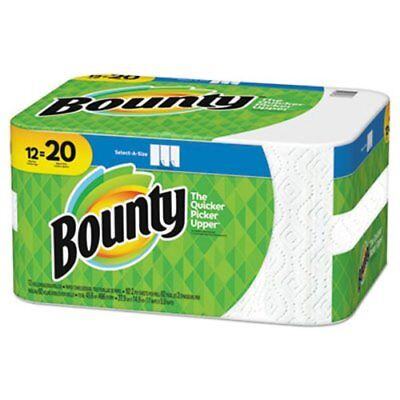 Bounty Select-a-Size Paper Towels, 5.9 x 11, 92 Sheets/Roll, 12 Rolls (PGC74868)