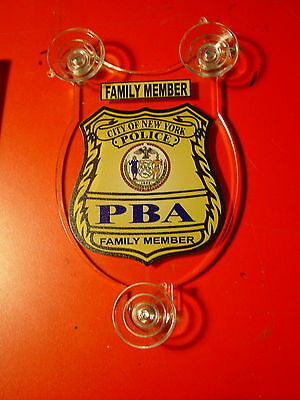 Nyc  New York City Police Pba  Family Member Car Shield  Pba Fop Dea