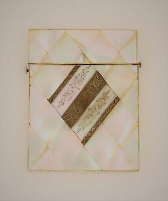 Mother of Pearl and Sterling Silver Card Case, 19th Cent. English