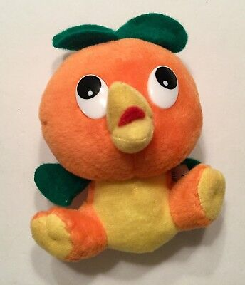 Vintage Florida Orange Bird Doll Plush Beanie Advertising Disney Character