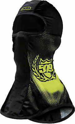 509 Mens Black/Lime Green Lightweight Snowmobile Pro Balaclava Snocross