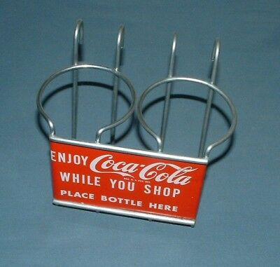 Vintage Coca Cola 2 Bottle Carrier - Excellent Condition