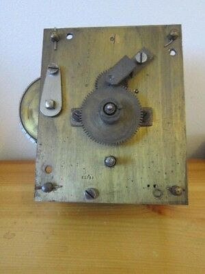 Fusee Clock Movement and Dial, spares or repair