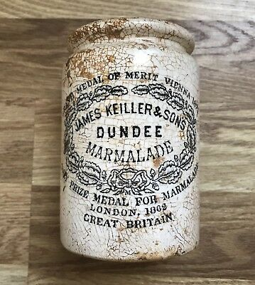 James Keiller & Sons Dundee Marmalade Ink Decorated Stoneware Jar Crock