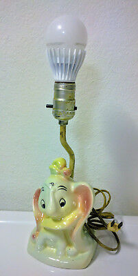Dumbo, Walt Disney, RARE/SCARCE vintage 1940s portable lamp, tested/works