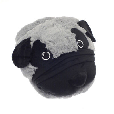 Country Club TV Slippers Pug Foot Cushion Cosy Fun Animal Gift Christmas Winter