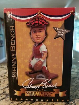 Johnny Bench Cincinnati Reds Autographed Bobblehead Stars of the Queen City