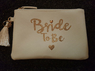 Bride To Be  Wedding Hen Party Cosmetic Pouch Make-Up Purse Primark Bag