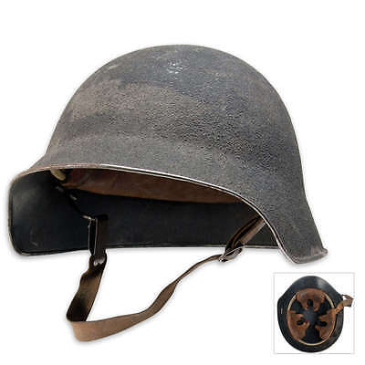 Swiss Military M18 Helmet Steel with Leather liner rare original camo cover