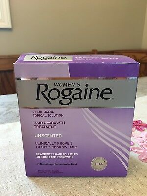 Women's Rogaine Unscented Hair Regrowth Treatment 3-Month Supply NIB Exp 7/18