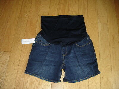 Liz Lange MATERNITY Denim Over the Belly JEAN SHORTS Size M Medium New NWT