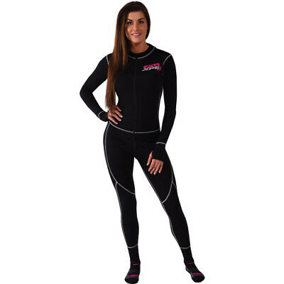FXR Womens Black 50% Commander Snowmobile Balaclava Mono Base Layer Snow