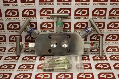 Rosemount 0305RC53B21L5 Integral Manifold 5 Valves 1/2 NPT - New Surplus Open