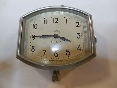 Vintage Sterling Electric Car Or Travel Clock