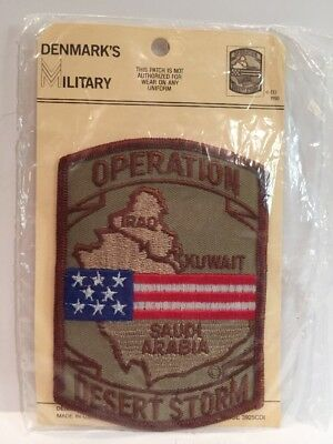 Nos Operation Desert Storm Iraq Kuwait Saudi Arabia Military Patch Usa Flag