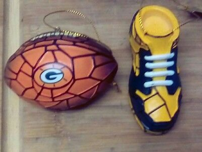 Green Bay Packers Shoe Ornament by Bradford Exchange