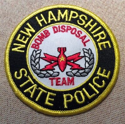 NH New Hampshire State Police Bomb Disposal Team Patch