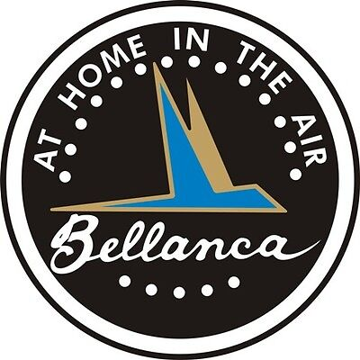 Bellanca Yoke Aircraft Logo Decal/Sticker 1 1/2''diameter!