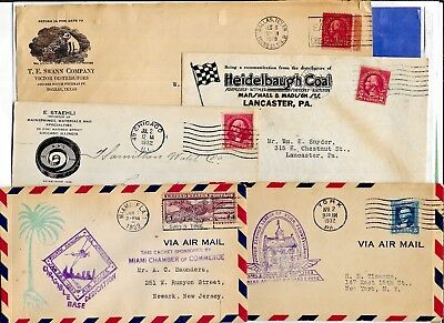 Us Postal History-- Collection Builder Lot Of 10 Diff. Covers & Cards  (N5532)
