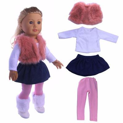 4PCS Fancy Clothes Dress Outfit Set for 18'' American Girl Our Generation Doll