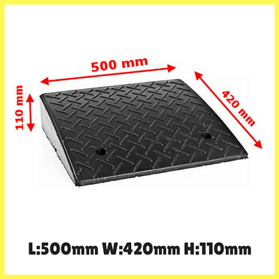 Heavy Duty Kerb Ramp- 10t Load Capacity, Durable Rubber, 110mm High, Cars/Trucks