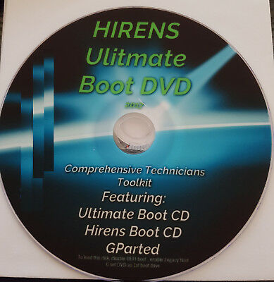 hirens ultimate boot DVD on usb flash drive