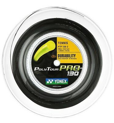 YONEX POLY TOUR PRO 130 GRAPHITE TENNIS RACKET STRING 200m REEL MADE IN JAPAN