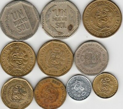 10 different world coins from PERU