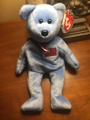 America Ty Beanie Baby Retired Mint In Memory of 9.11.2001 Canadian Tush Tag