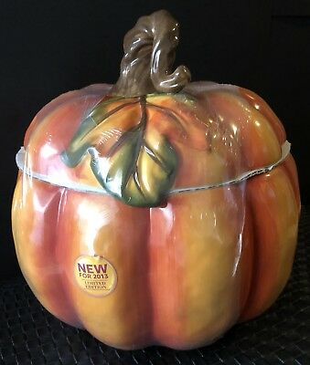 New 2013 Better Homes And Gardens Heritage Collection Pumpkin Cookie Jar Fall