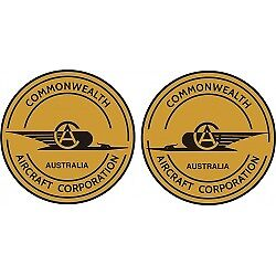 Commonwealth Aircraft Logo Decals Stickers!
