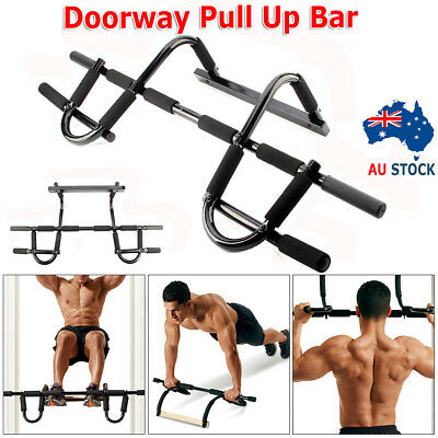 Door Gym Bar Chin Up Pull Push Up Strength Fitness Situp Dips Workout Exercise Q