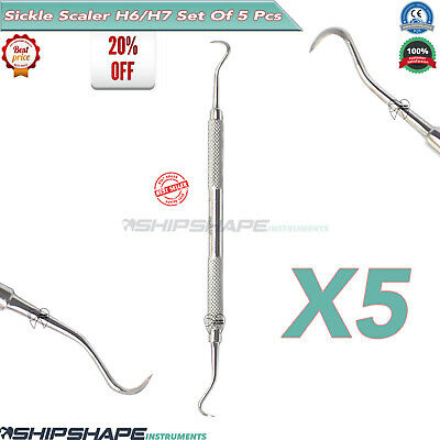 Sickle Scaler H6-H7 PERIODONTIC Double Ended  Pro Pick Dental Hand InstrumentsX5
