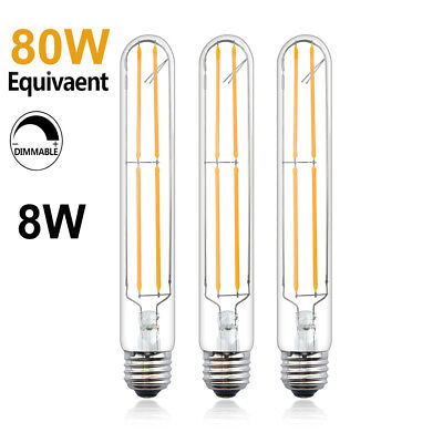 T10/T30 LED Bulbs Tubular Edison Style LED Filament Bulb Dimmable 8W E26 Base