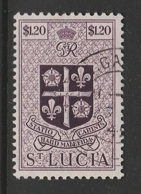 St Lucia 1949 $1.20 Purple Sg 157 Fine Used.