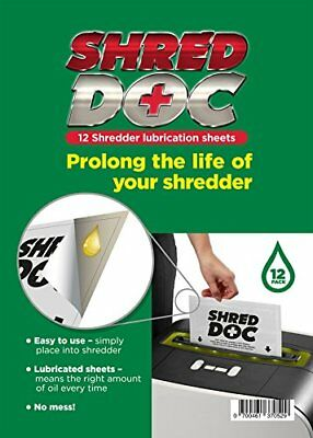 Shredder Oil Lubrication Sheets / Sachets (12) By SHRED DOC