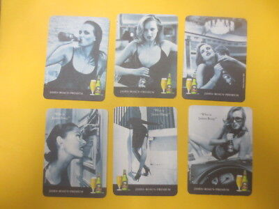 complete set of 6  BOAGS BREWERY ,Tasmania beer COASTERS collectable